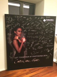 A lovely evening had by all at the Schneider last night. Spot the Paula Pell Johnson signature!