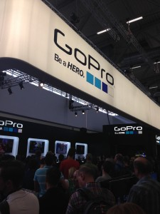 The GoPro stand is slightly busy!
