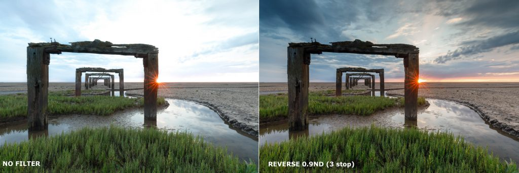 Lee Filters Reverse ND before after