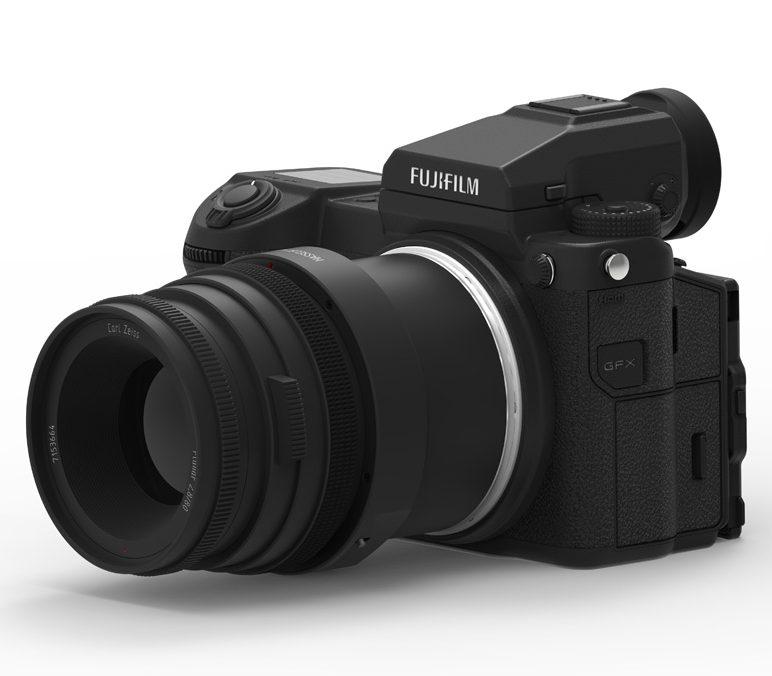 Cambo HV-GFX adapter on Fujifilm GFX